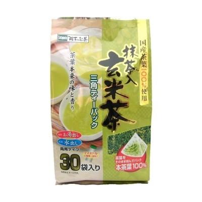国産茶葉100%使用 抹茶入り玄米茶 三角ティーパック ( 30袋入 )
