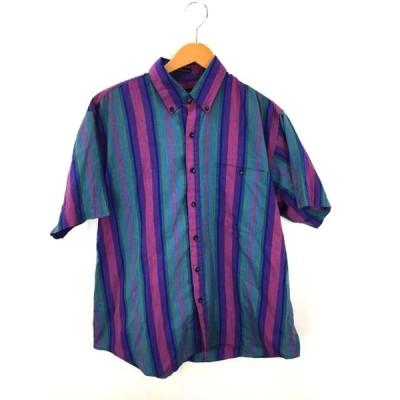 ユーズドフルギ USED古着 Manhattan ストライプシャツ メンズ L 中古 210203