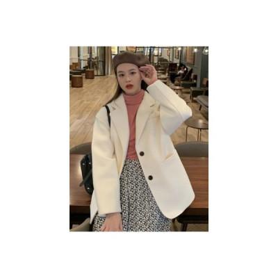 【送料無料】ウールブレザー 女 秋と冬 年 英国スタイル ルース 着やせ 何でも似合 | 364331_A64538-9354758