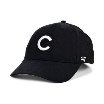 47ブランド メンズ 帽子 アクセサリー Chicago Cubs Black White MVP Cap