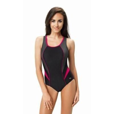 スポーツ用品 スイミング Christina NEW Blue Black Womens Size 8D One-Piece Ikat Printed Swimwear #214