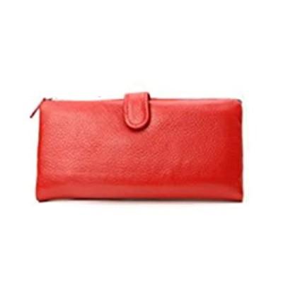8色 本革 くしゅっと柔らかい素材のかわいい長財布 内側がマルチストライプで12枚カード入れ付き レディース