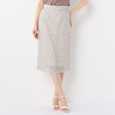 ミッシュマッシュ MISCH MASCH 繊細レースタイトスカート (ベージュ)