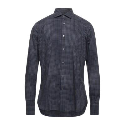 GUGLIELMINOTTI シャツ ブルー 40 コットン 100% シャツ
