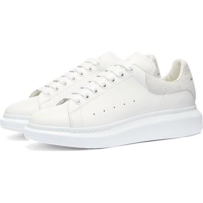 アレキサンダー マックイーン Alexander McQueen メンズ スニーカー シューズ・靴 Snakeskin Embossed Suede Heel Tab Sneaker White/Ivory