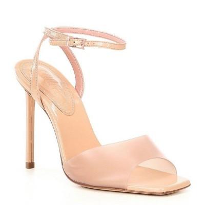 シュッツ レディース サンダル シューズ Jamili Clear Square Toe Stiletto Dress Sandals Nude