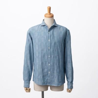 SCROLL ヴィンテージグレンチェックシャツ DPSA74 メンズ