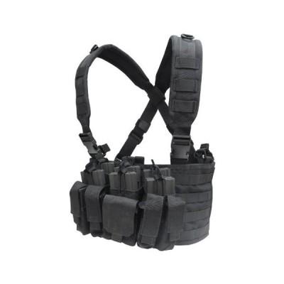 サバゲ— ベスト 装備 タクティカル チェスト 胸部 リグ ポーチ コンドル タクティカル リーコン チェストリグ ブラック 黒