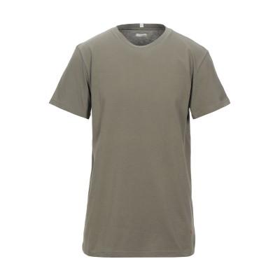 プラスピープル (+) PEOPLE T シャツ ミリタリーグリーン L コットン 100% T シャツ
