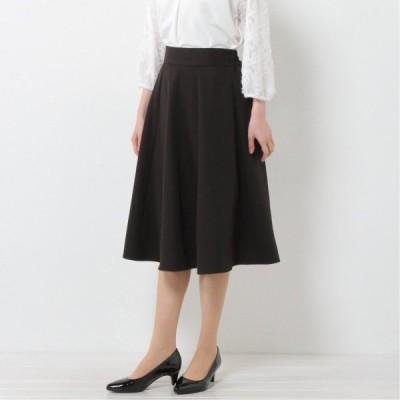 70cm丈フレアスカート ブラック M L LL 3L 4L 5L