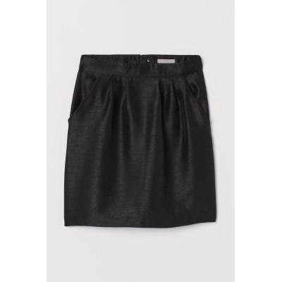 H&M - テクスチャードスカート - ブラック
