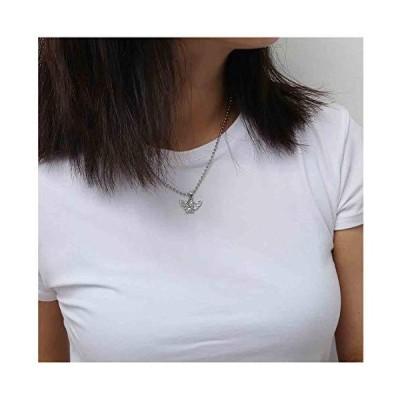Olbye Angel Pendant Necklace Tiny Simple Necklace Choker Minimal Necklace J