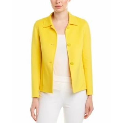 ESCADA エスカーダ ファッション 衣類 Escada Wool & Cashmere-Blend Jacket 46 Yellow