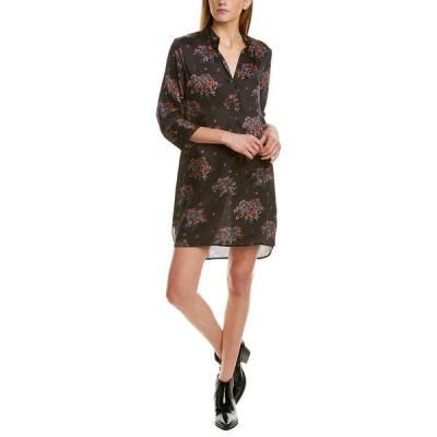 デイヴィッドラーナー ワンピース トップス レディース David Lerner Printed Shirtdress black floral