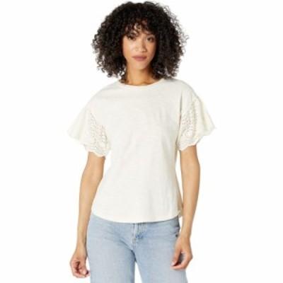 ラルフ ローレン LAUREN Ralph Lauren レディース Tシャツ トップス Slub Jersey Flutter Sleeve Top Mascarpone Cream
