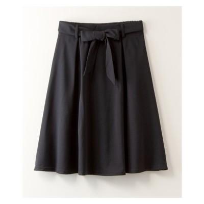 スカート ひざ丈 大きいサイズ レディース カットジョーゼット 共布 ベルト付 ORLLIA LL/3L ニッセン nissen