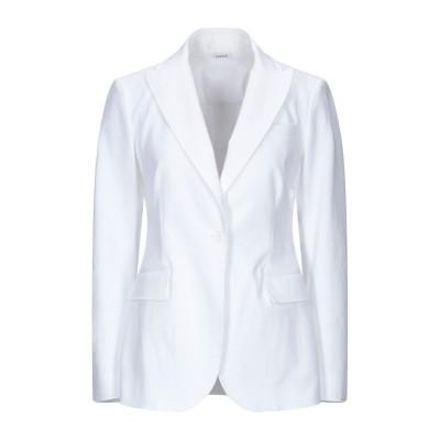 パロッシュ P.A.R.O.S.H. テーラードジャケット ホワイト S コットン 98% / ポリウレタン 2% テーラードジャケット