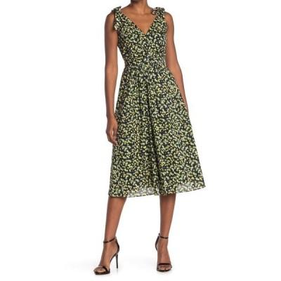 カルバンクライン レディース ワンピース トップス Cotton Sleeveless Tie Dress BK POPCRN