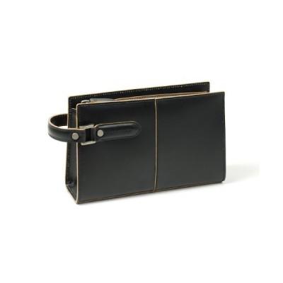 COMPLEX GARDENS (青木鞄) 枯淡(コタン):ループハンドルセカンドバッグ S3679 (ブラック)