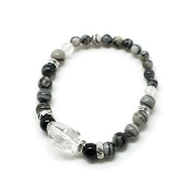 [ウエンチズコレクション] UENCHS collection 天然石ブレスレット/ゼブラジャスパー・オニキス他 BK2004010