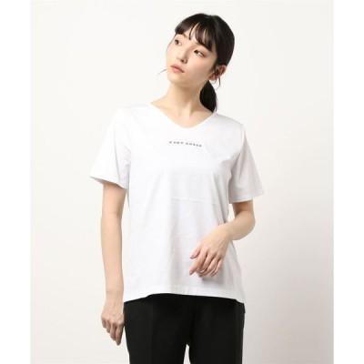 tシャツ Tシャツ 【EDDY GRACE/エディ グレイス】シルケットVネックロゴT