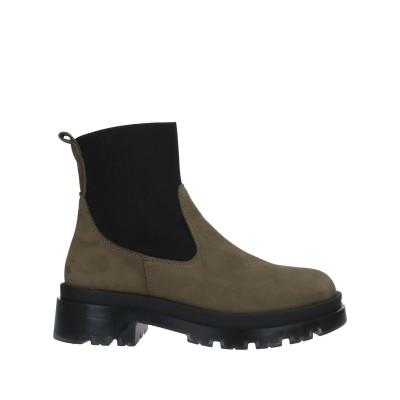 LE PEPITE ショートブーツ ミリタリーグリーン 36 革 / 指定外繊維(その他伸縮性繊維) ショートブーツ
