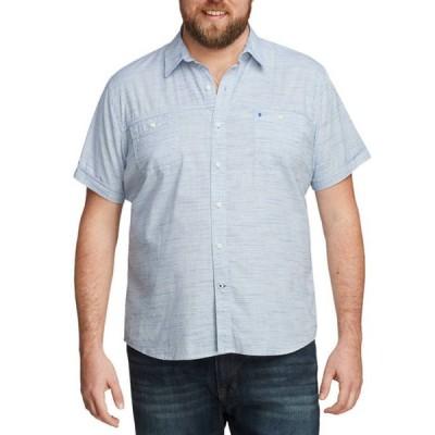 アイゾッド メンズ シャツ トップス Big & Tall Dockside Chambray Short Sleeve Button Down Shirt