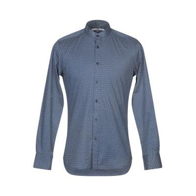 マッシモ レベッキ MASSIMO REBECCHI シャツ ダークブルー 39 コットン 97% / ポリウレタン 3% シャツ