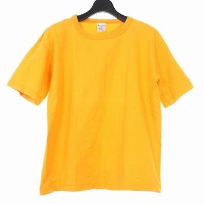 【中古】チャンピオン CHAMPION Tシャツ カットソー ワンポイントロゴ USA M イエロー 黄色 T1011 メンズ 【ベクトル 古着】