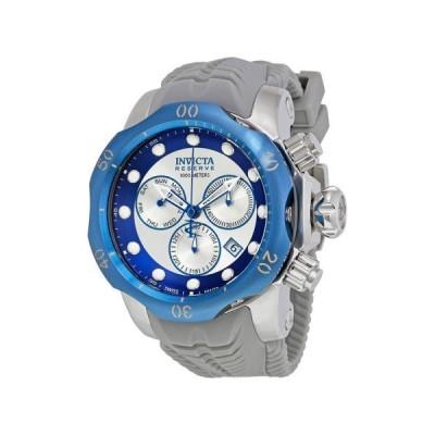 腕時計 インヴィクタ Invicta Venom クロノグラフ シルバー and ブルー ダイヤル グレー シリコン メンズ 腕時計 19924