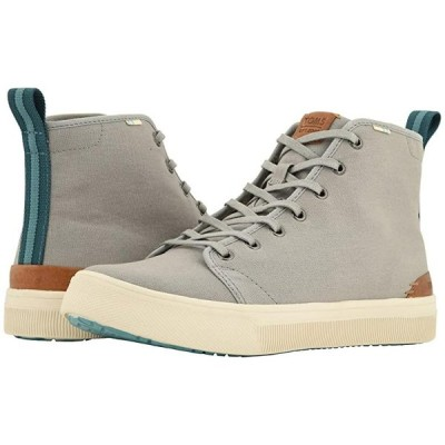 TOMS TRVL LITE High メンズ スニーカー 靴 シューズ Neutral Gray Canvas