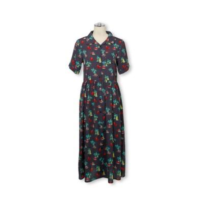 【BABYDOLL】親子お揃い ディズニー リゾート総柄シャツワンピース 3852A (ワンピース)Dress