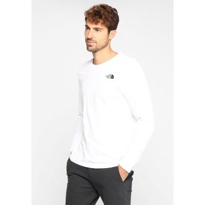 ノースフェイス カットソー メンズ トップス MENS EASY TEE - Long sleeved top - white/black