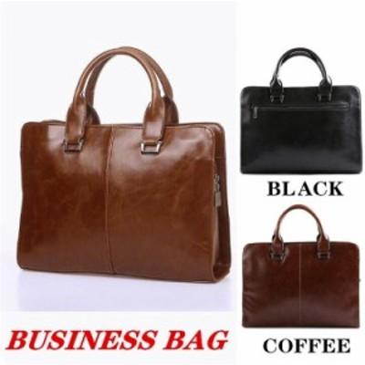 ビジネスバッグ メンズバッグ ブリーフケース バッグ かばん 大容量 シンプル 高級感 仕事 ビジネス 通勤 出張 横型 好印象 男気 ご褒美