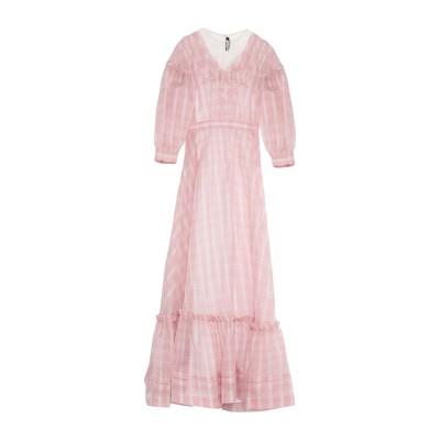 CALVIN KLEIN 205W39NYC ロングワンピース&ドレス レッド 40 シルク 100% ロングワンピース&ドレス