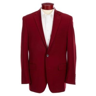ターンベリー メンズ ジャケット&ブルゾン アウター Classic Fit Solid Wool Blend Sportcoat Crimson