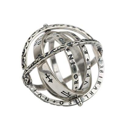 silver KYASYAシルバー925 リング シルバーリング 指輪 天体 唐草 太陽 月 惑星 天球儀 ギミックリング 星空をこの指輪一