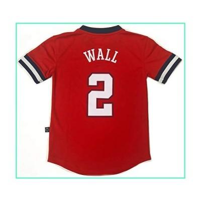 Outerstuff NBA Boys Youth 8-20 Short Sleeve Player Name & Number Performance Jersey (Youth Medium 10-12, John Wall Washington Wizards)並行輸入品