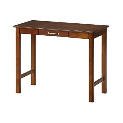 不二貿易 デスク 幅90cm ミディアムブラウン 木製 マンチェスター 95784 (ダークブラウン)