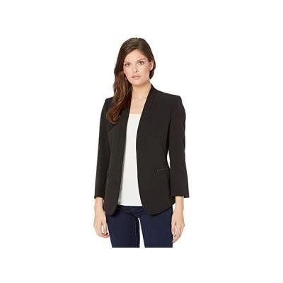 アンクライン Piped Cardigan Jacket wu002F Cropped Sleeve レディース コート アウター Anne Black