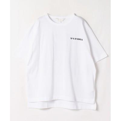 (To b. by agnes b./トゥービー バイ アニエスベー)WG29 TS ロゴTシャツ/レディース ホワイト