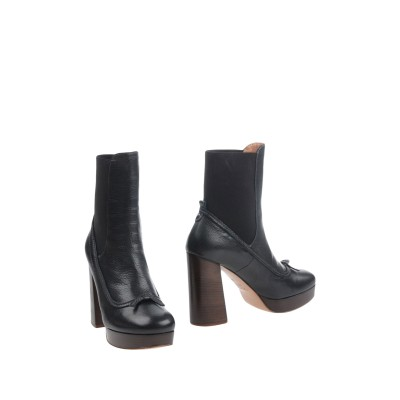 ツインセット シモーナ バルビエリ TWINSET ショートブーツ ブラック 35 革 / 紡績繊維 ショートブーツ