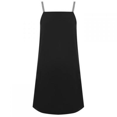 カルバンクライン Calvin Klein レディース パーティードレス スリップドレス ワンピース・ドレス Logo Slip Dress Black Beauty