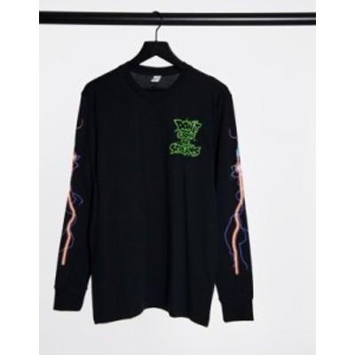 リーボック メンズ シャツ トップス Reebok Classics x Ghostbusters long sleeve t-shirt in black Black
