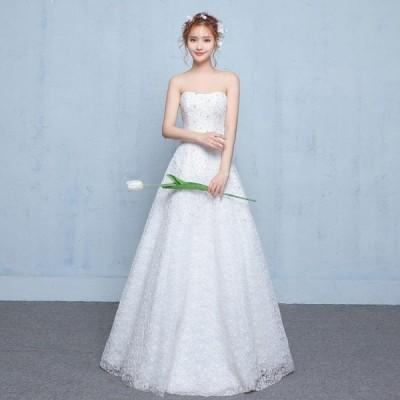 ウェディングドレス aラインドレス 安い ウエディングドレス 二次会 花嫁 シンプルドレス 披露宴 ブライダル 結婚式 ロングドレス 演奏会 白 wedding dress