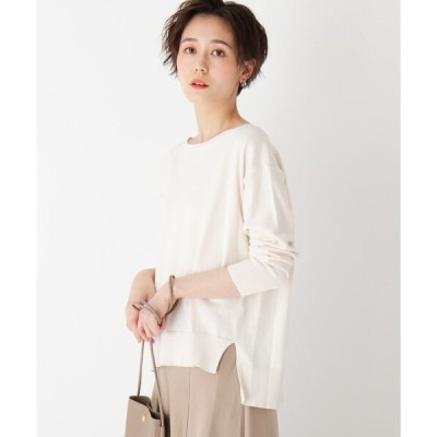 ニット 【エマール検証済】Lux organic cotton ワイドプルオーバー