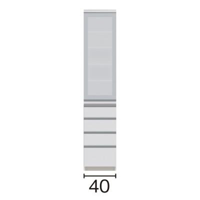 サイズが豊富な高機能シリーズ 食器棚引き出し 幅40奥行45高さ198cm/パモウナ VZ-S400KL VZ-S400KR ミギヒラキ
