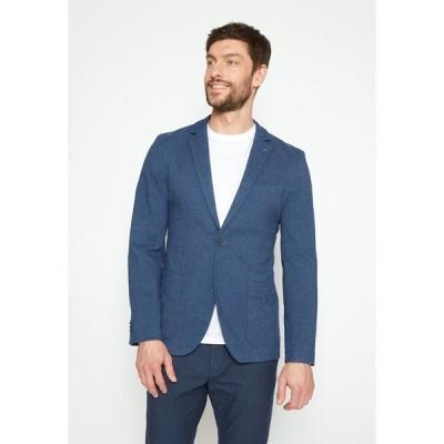 トムテイラー ジャケット&ブルゾン メンズ アウター DOBBY - Suit jacket - blue