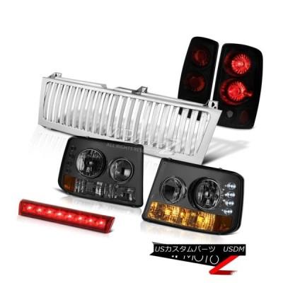 ヘッドライト 00-06 Tahoe 5.3Lバンパー+ヘッドライト  htsブレーキテールランプ3rd Red LED Ch