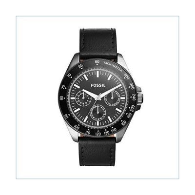 Fossil Men's Neale Quartz Stainless Steel and Leather Chronograph Watch, Color: Black (Model: BQ2293)並行輸入品